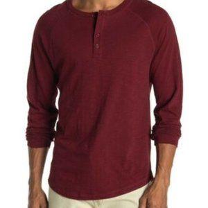 Vince Slub Henley Men's long sleeve shirt size Med